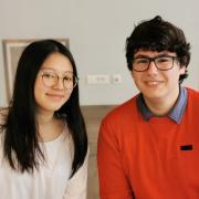 Journée Portes Ouvertes janvier 2019 - My-Linh et Lucas renseignent les élèves