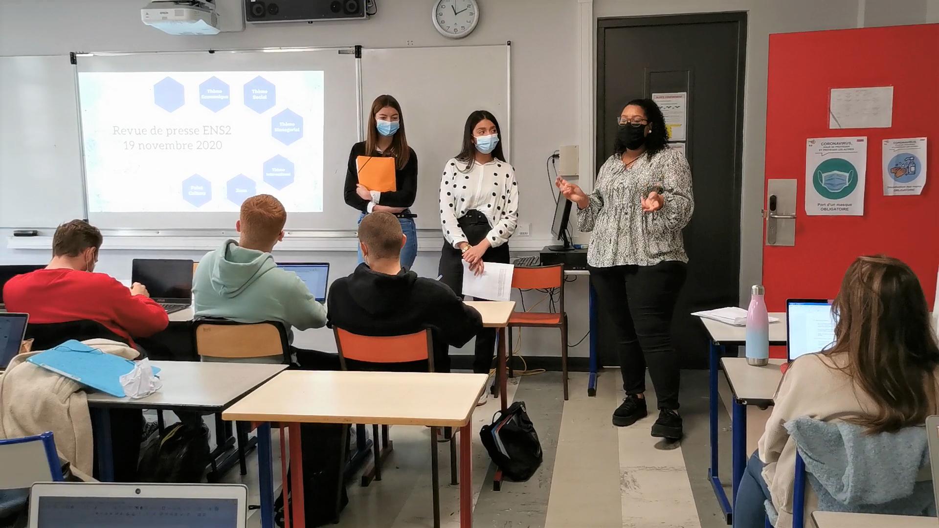 Revue de presse en ENS 2 - cours de culture générale  - nov. 2020